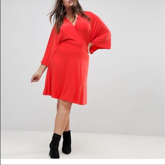 ASOS Curve Dresses & Skirts - Asos curve wrap skater dress NEW!